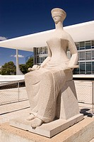 Statue of the Justice, Alfredo Ceschiatti, Federal Supreme court, Distrito Federal, Brasília, Brazil