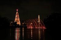Christmas tree, Ibirapuera Park, São Paulo, Brazil