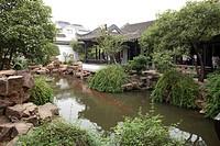 Garden of Yan family´s residence Yanjia huayuan at Mudu, Suzhou, Jiangsu Province, China