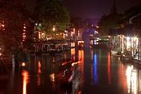 Old town of Xitang at night, Zhejiang, China