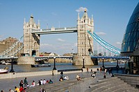 Tower Bridge and City Hall, London, England