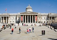 National Gallery, Trafalgar Square, London, England
