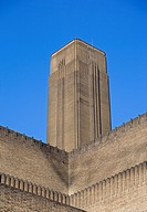 England, London, Bankside, The chimney of the former Bankside power station now home to the Tate Modern that houses international modern and contempor...