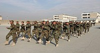 National Afghan Army ANA trainingschool in Kabul