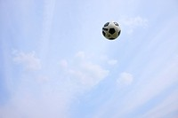 Soccer ball in mid_air