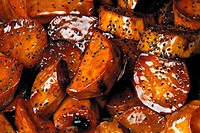 Sugar glazed sweet potatoes
