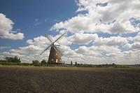 England, Essex, Thaxted, Thaxted Windmill, a fully restored Grade ll listed 5 storey Tower Mill built in 1804 by John Webb to meet an increasing deman...