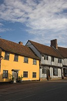 England, Suffolk, Lavenham, Lavenham in Suffolk, one of the most outstanding villages in East Anglia. Its appearance has hardly changed since its heyd...