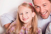 Germany, Cologne, Portrait of father and daughter 6_7, portrait, close_up