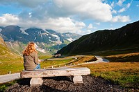 Austria, Grossglockner, View of the Alps from the high Alpine road