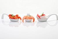 Shrimps on spoon