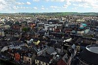 Republic of Ireland, County Cork, Shandon, A view over the rooftops of Cork from Shandon.