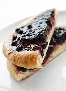 England, West Midlands, Birmingham, A blackcurrant danish pastry.