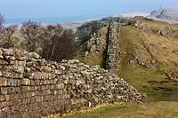 northumberland, england, hadrian´s wall