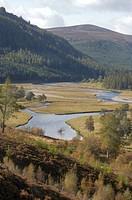 Scotland, Aberdeenshire, Braemar, The River Dee near Linn of Dee.