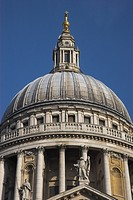 St. Paul's Cathedral in the City of London, designed in the 17th century by Sir Christopher Wren. The dome was inspired by St Peter's Basilica in Rome...