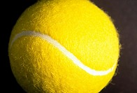 Tennis ball, close-up
