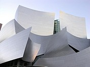 Exterior details of Walt Disney Concert Hall, USA, California, Los Angeles