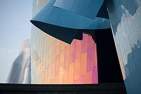 USA, Washington, Seattle, Details of exterior of the Experience Music Project