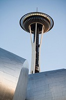 USA, Washington, Seattle, The Space Needle and the Experience Music Project