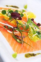 Sashimi Style Smoked Salmon Salad with Wasabi