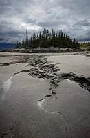 Tidal mud patterns at low tide in Turnagain Arm, Southcentral Alaska