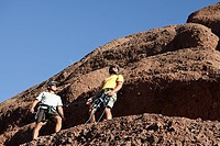 Two rock climbers on rock