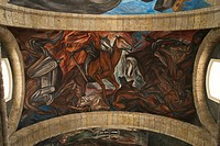 Mexico, Jalisco, Guadalajara, Instituto Cultural de Cabanas built between 1805 and 1810, murals by Jose Clemente Orozco.