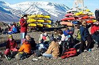 Spitsbergen, Svalbard, Longyearbyen, midsummer night celebration