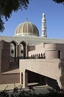 entrance to Grand Mosque Sultan Qaboos, Muscat, capital city area Al Khuwayr, Sultanate of Oman