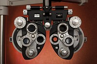 Optometric equipment used in eye exams