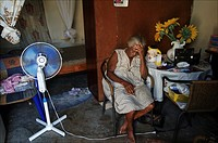 Curacao, Willemstad, Cas Chikitu, an old Surinam woman is living alone in a small shack, where she finds comfort only in Jesus