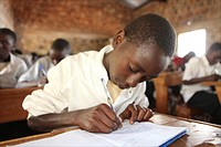 In Burundi, many new schools are currently buing built after peace has come