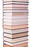 Close_up of a stack of books