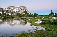 Vogelsang peak and Fletcher Creek, Yosemite High Sierra Wilderness