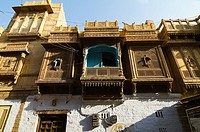 Ancient Houses outside Golden Fort, Jaisalmer, Rajasthan, India