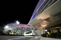 Yas Hotel, at the F1 racetrack on Yas Island, Abu Dhabi, United Arab Emirates