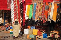 Morocco - Carpet shops in the souks of Marrakesh