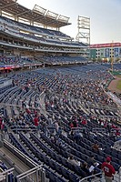 Washington, DC - A sparse crowd for a Washington Nationals baseball game at Nationals Stadium