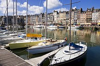 Honfleur Harbour Calvados Normany France Europe