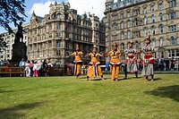 Princes Street Gardens PRINCES STREET EDINBURGH Children of the Sea troop dancers Sri Lanki tsunami survivors