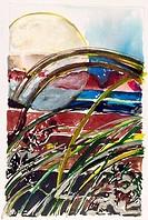 Florida Two, 1978, John Bunker 20th C. American, Watercolor