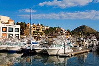 Boats at a marina, Cabo San Lucas, Baja California, Mexico