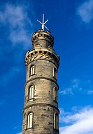 Scotland, City of Edinburgh, Edinburgh. Nelson´s Monument on Calton Hill, erected to celebrate the Nelson´s victory at the Battle of Trafalgar in 1805...