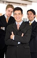 Male diverse business team at the office