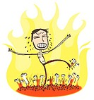 A man walking on hot coals (thumbnail)