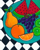 A plate of fresh fruit (thumbnail)