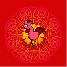 Chinese new year symbol of rooster (thumbnail)