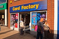 The Card Factory shop store in Norwich,Norfolk,Uk