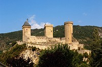 Castle of Foix, Cathar country, Ariege, Midi-Pyrenees, France